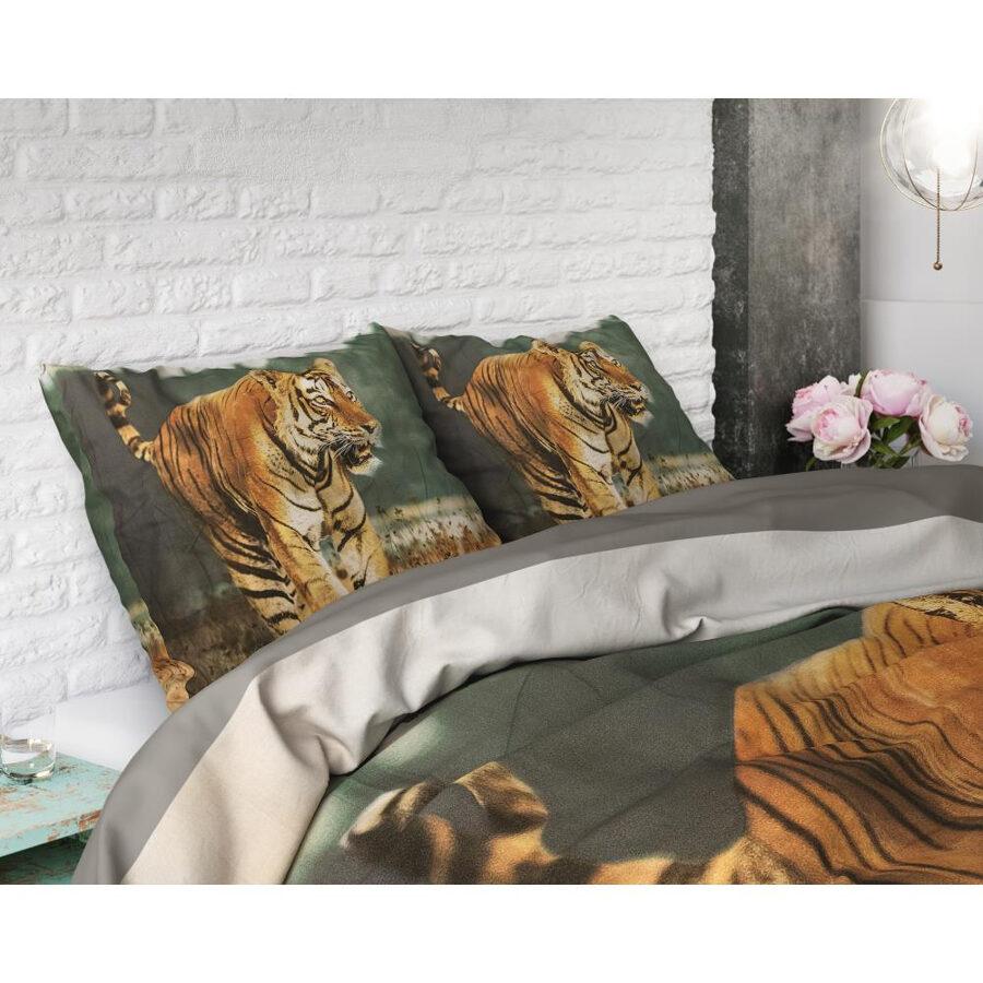 Kokvilna 200x200 Nature Tiger Taupe