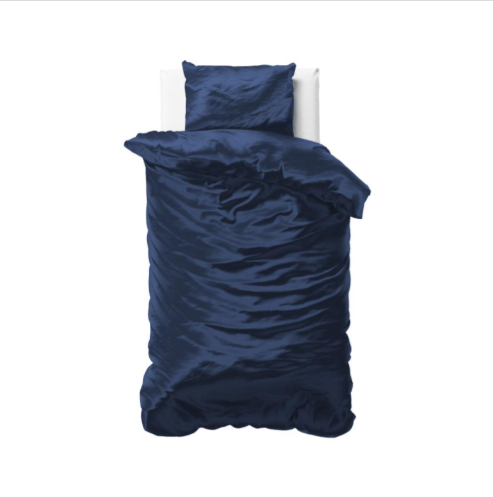 Zīda Mikroperkals Tumši zils 140x220