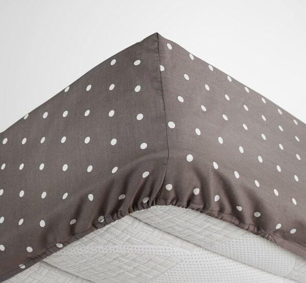 Kokvilnas palags ar punktainu dizainu 2 izmēri