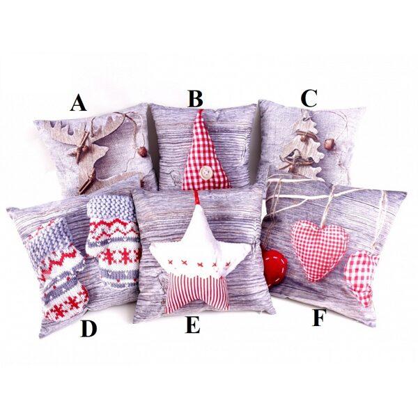 Ziemas dizaina dekoratīvais spilvens, 45x45