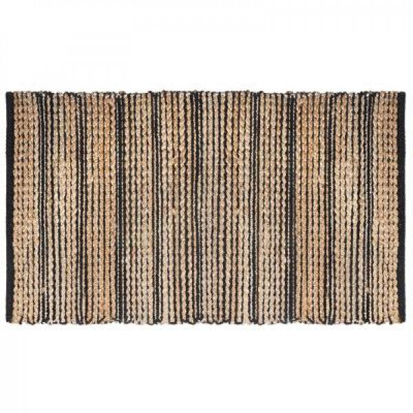 Šenila paklājs, 70x140, melns