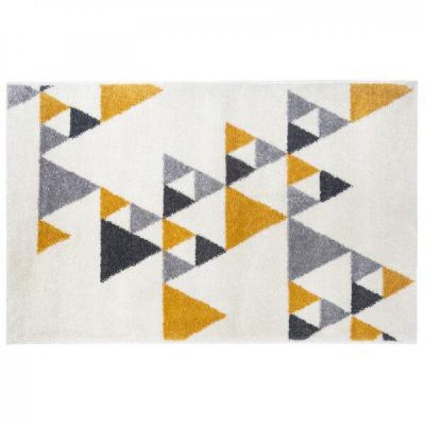 Paklājs ar trijstūra izšuvumiem 120x170, dzeltens