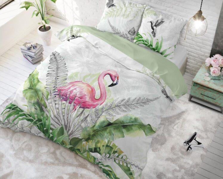 100% kokvilna 200x220 Flamingo Splash