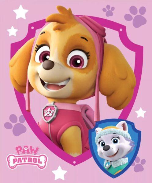 Flīsa pleds Paw Patrol Pink 100x140