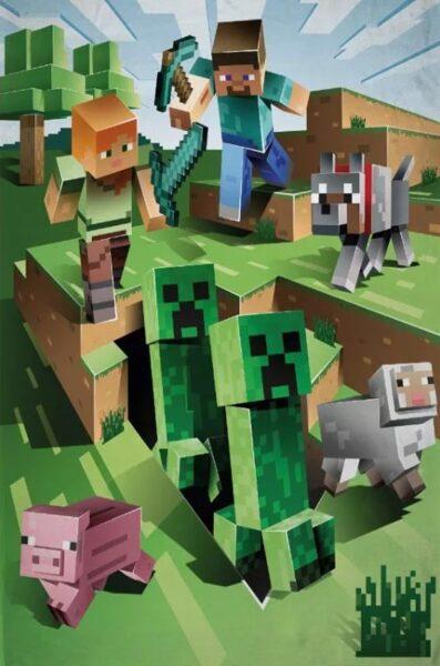Flīsa pleds Minecraft 130x170
